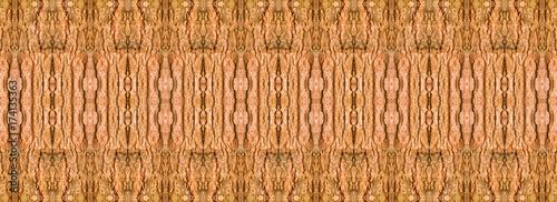 Photo panorama wood shell tamarind texture design seamless  pattern