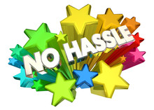 No Hassle Easy Care Free Words Stars 3d Illustration