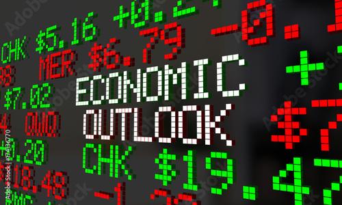 Fotografía  Economic Outlook Stock Market Ticker Financial Futures Forecast 3d Illustration