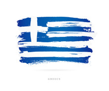 Flag Of Greece. Abstract Concept