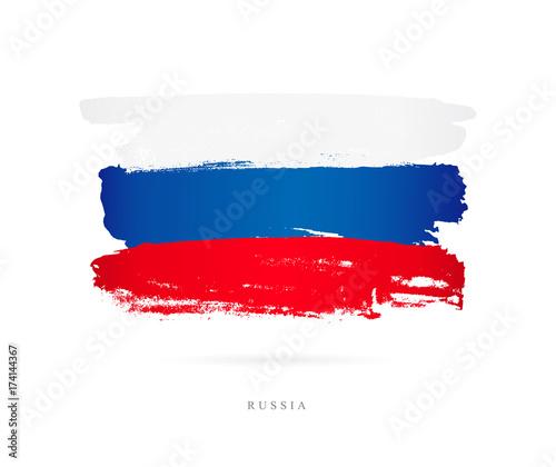 Fotomural Flag of Russia. Bbrush strokes