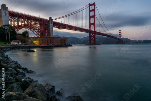 Obraz na dibondzie (fotoboard) Most złotej bramy