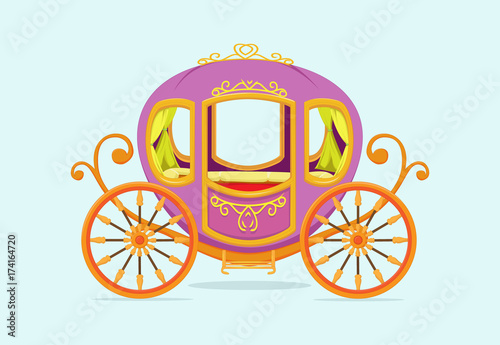 Carta da parati princess Carriage cartoon