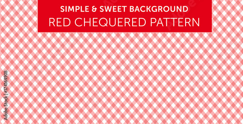 Valokuva  Rad chequered pattern Simple & Sweet Background vol.16