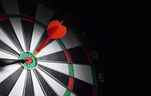Dartboard With Red Dart Arrow ...