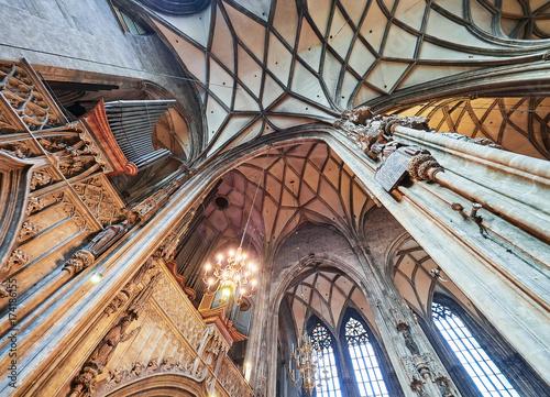 Canvas Prints Krakow St. Stephen's Cathedral interior, Vienna, Austria