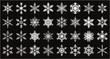 雪の結晶のベクター素材32個セット Snowflakes - 32 pcs