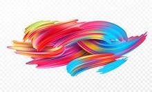 Color Brushstroke Oil Or Acryl...