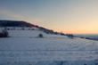 Sonnenaufgang im Winter am Pöhlberg in Annaberg-Buchholz