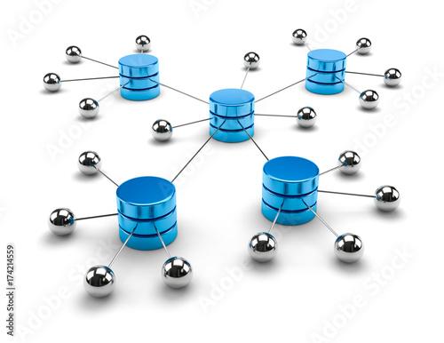 Network Computing Data Storage Concept Wall mural