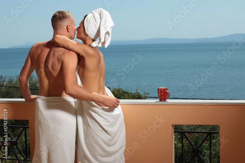 Couple On Vacation Boracay In Philippine Couple In Love Sexy Photo Honeymoon Love Story Stock Photo Adobe Stock