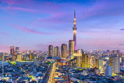 Plakat Tokio, Japonia Cityscape