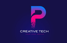 P Initial Letter Logo Design W...
