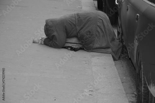 Photo sur Toile Autruche Poverty