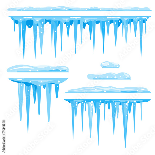 Set of Icicles Cluster Wallpaper Mural