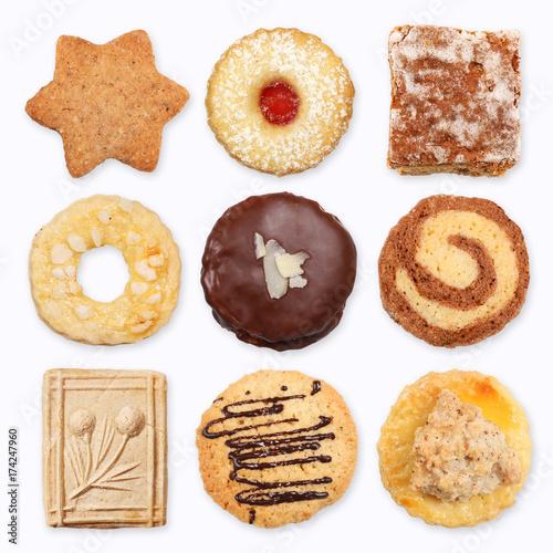 Leinwand Poster Verschiedene Kekse, Collage 2