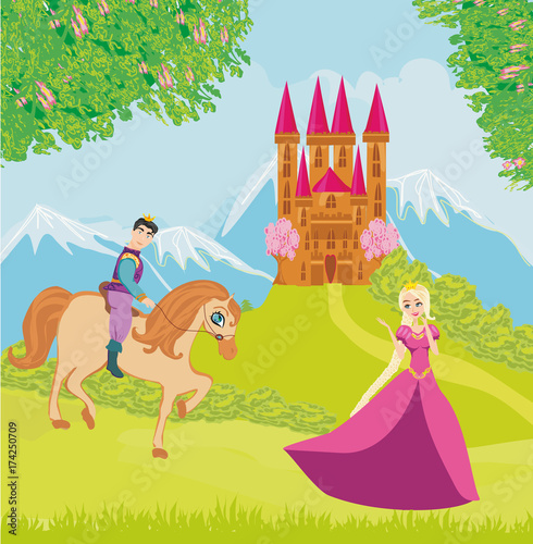 Montage in der Fensternische Pony Beautiful prince and princess