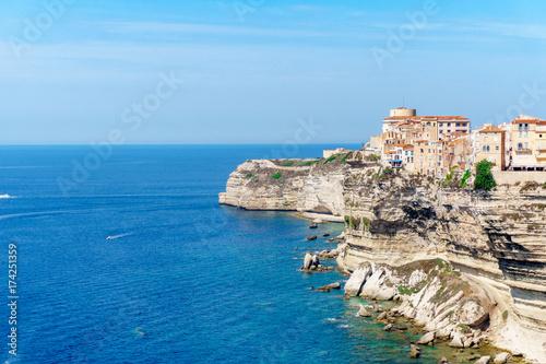 Photo  View of Bonifacio old town Corsica island France