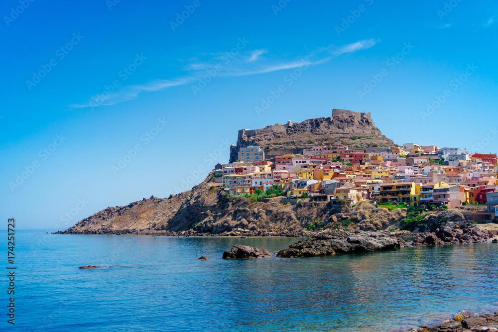 Photo  Medieval town of Castelsardo on Sardinia