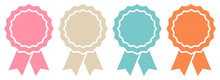 4 Award Badges Retro Graphic