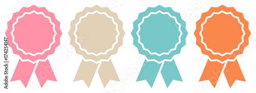 4 Award Badges Retro Graphic Wallpaper Mural