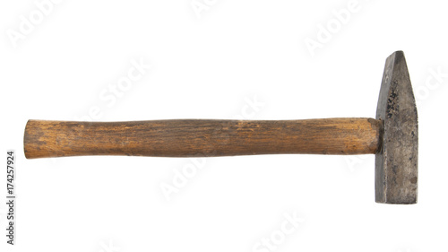 Fotografía old hammer isolated on white background