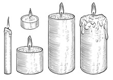 Candle Illustration, Drawing, ...