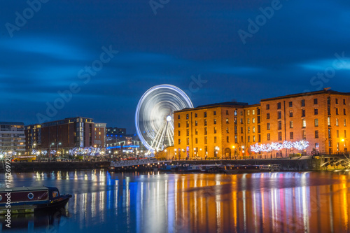 Photo Wheel Of Liverpool At Albert Dock, Liverpool, UK
