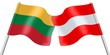 Flags. Lithuania and Austria