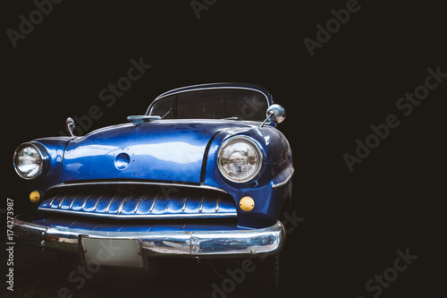 Vintage cars on a black background. #174273987