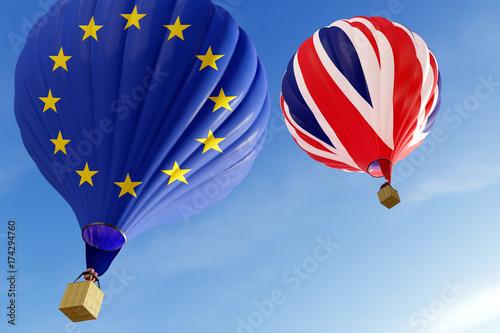 Plakat Unia Europejska i Wielka Brytania