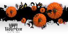 Happy Halloween Paper Art Bann...