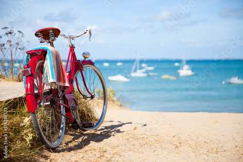 Deurstickers Strand Noirmoutier > Vendée > France > Vélo