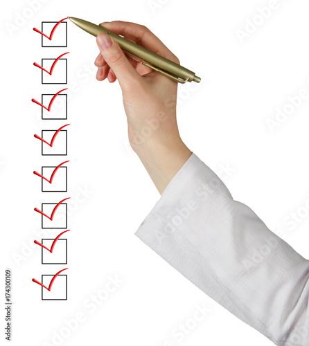 Fotografía  Filling Check list