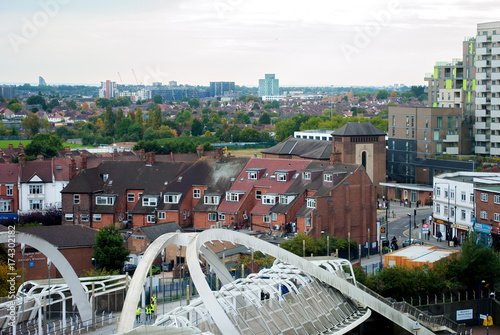 Canvas Print Suburban areas view in North London