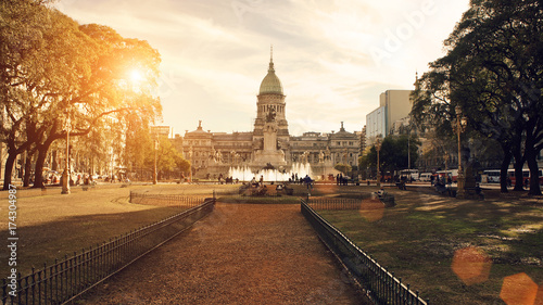 Photo sur Toile Buenos Aires Buenos Aires, National Congress building