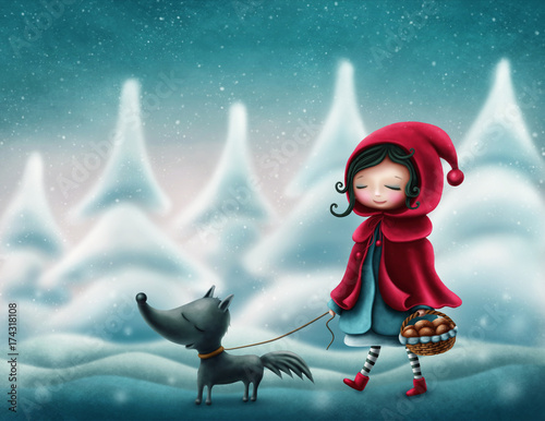 Tablou Canvas Little red riding hood