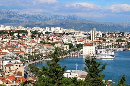 Spoed Foto op Canvas Palermo Panoramic view of Split, Croatia. Split is popular touristic destination and UNESCO World Heritage Site.