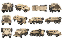 Truck Military Beige Armored A...