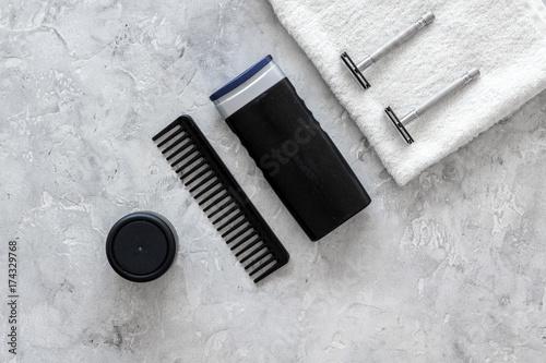 Fotografie, Obraz  Men's shaving