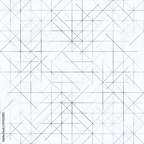 Geometric simple minimalistic background. Triangles striped pattern. Vector illustration Wall mural