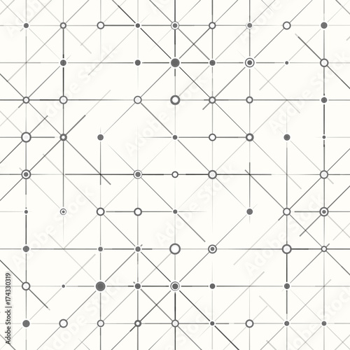 Geometric simple minimalistic background. Triangles dotted pattern. Vector illustration Wall mural