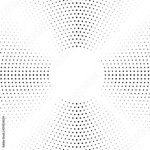 Zdjęcie XXL Półtonowane tło przerywane koliście. Wzór wektor wzór półtonów. Okrąg kropki odizolowywać na białym tle.