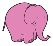 Vector Pink Elephant
