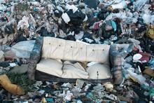 Old Sofa At Landfill