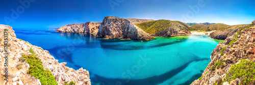 Photo Cala Domestica beach, Costa Verde,  Sardinia, Ital