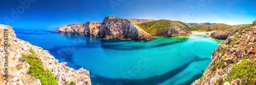 Cala Domestica beach, Costa Verde,  Sardinia, Ital Canvas Print