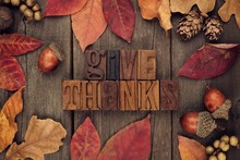 Give Thanks Spelled With Woode...
