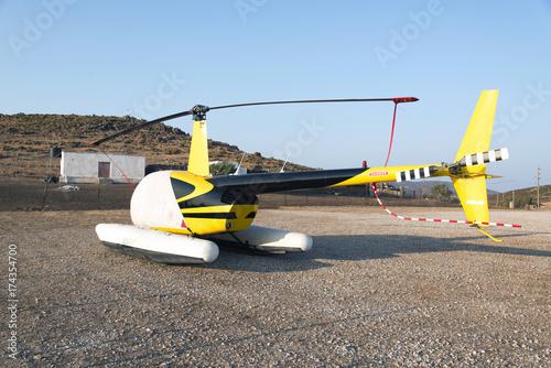 Plakat Zakryty helikopter na greckiej wyspie