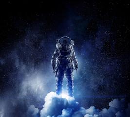 Adventure of spaceman. Mixe...